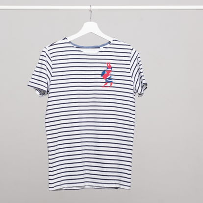 Picture of SZIGET // Men striped French t-shirt