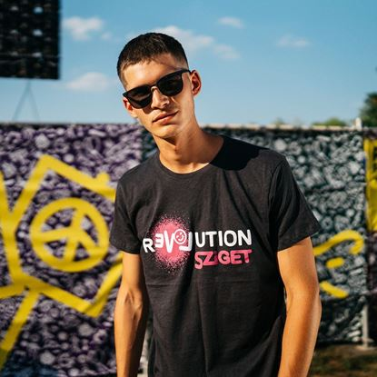 Picture of SZIGET // Men Love Revolution Smiley t-shirt