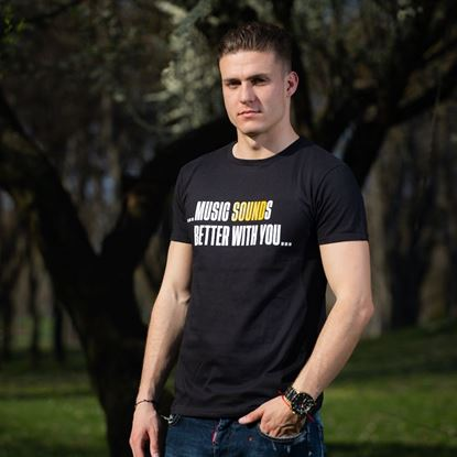 Picture of BALATON SOUND // Men 'Music SOUNDs better with you...' t-shirt
