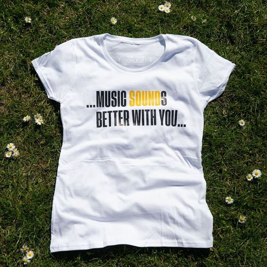 Picture of BALATON SOUND // Lady 'Music SOUNDs better with you...' t-shirt